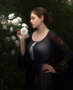 Morning Roses, ©2014 By Adrian Gottlieb Oil on Belgian Linen Size: 50″ x 35″.  S.R. Brennen Gallery