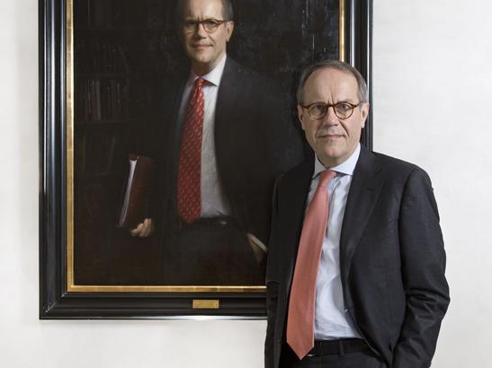 Jorma Ollila's Portrait on exhibition at Amos Anderson Museum, Helsinki