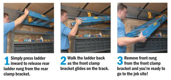 Interior Ladder Rack, Ladder Keeper, Store Ladder Inside Your - the ladders