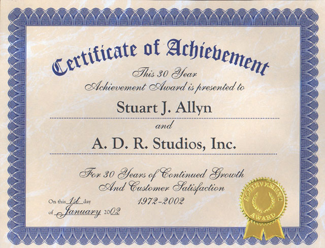 Certificate of Achievement - certificate of achievement for students