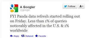 Actualización Google Panda 3.7 del 8 de junio