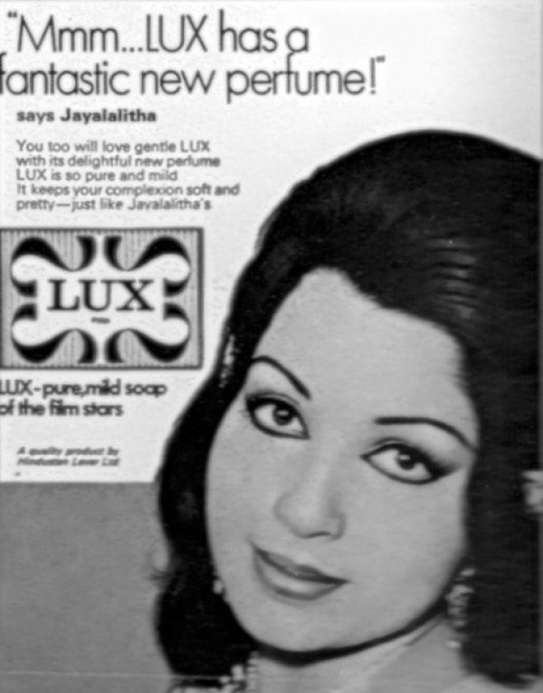 vintage ad bollywood celeb