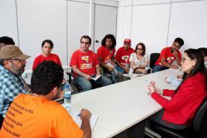 Reunião ineficaz na Secretaria de Educação. Foto: Ascom Fórum das ADs