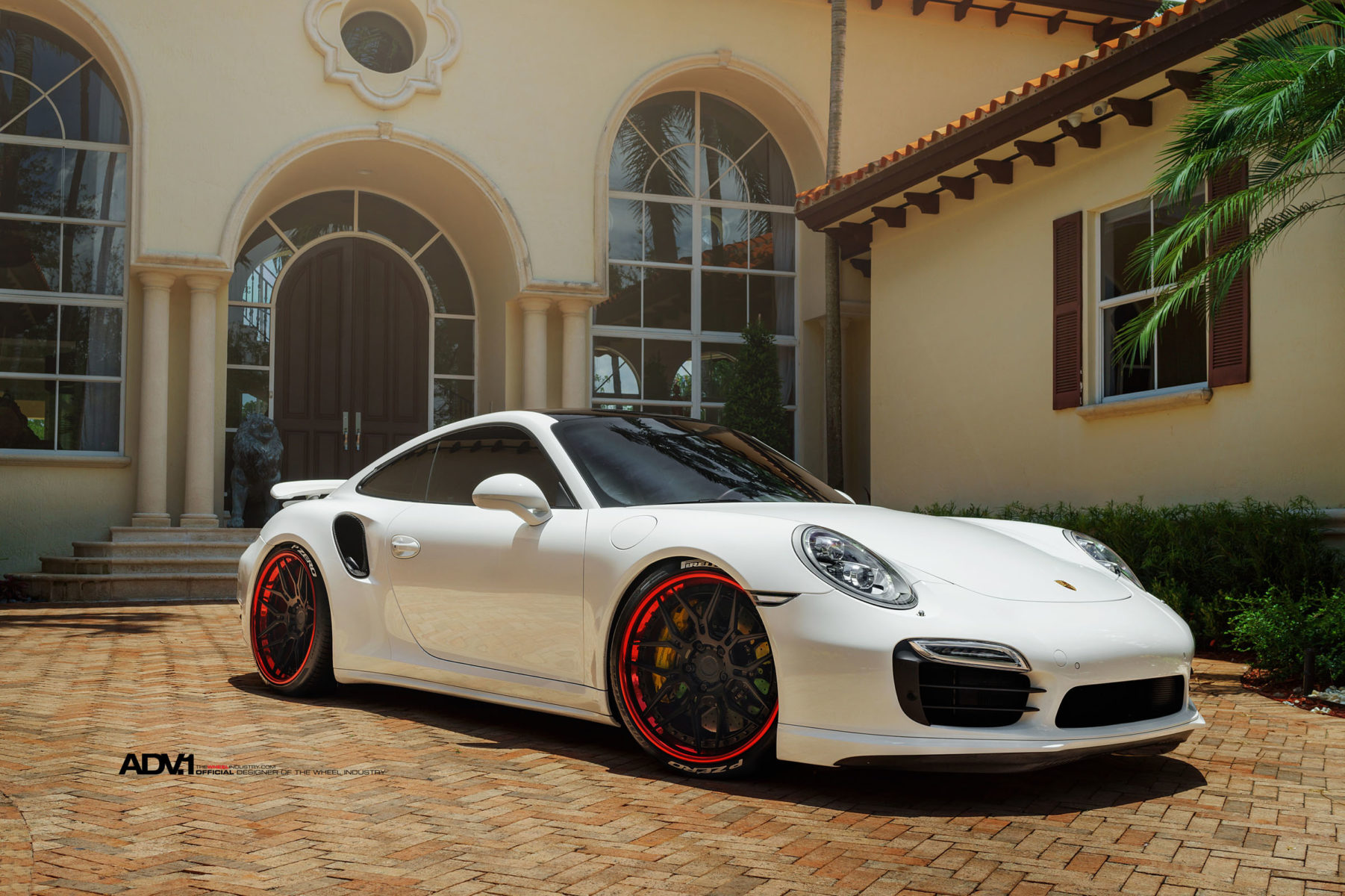 21x9 Car Wallpaper White Porsche Turbo S Adv7 Track Spec Cs Concave Wheels