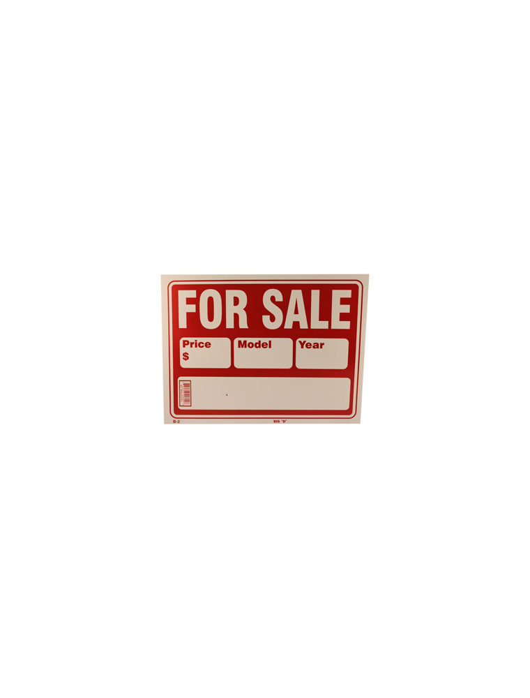 Car For Sale Sign - Large