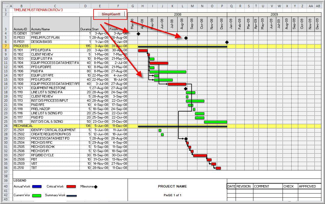 EXCEL GANTT USING VBA - AdvancedPlanningAnalytics - scheduling tools in excel