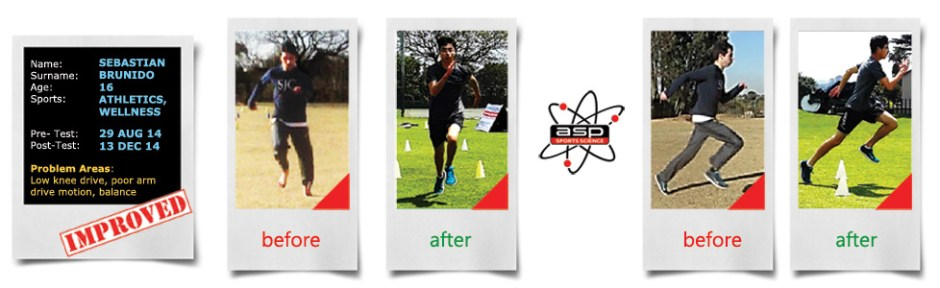 Sebastian Brunido Sports Science Fitness Assessment - before and after