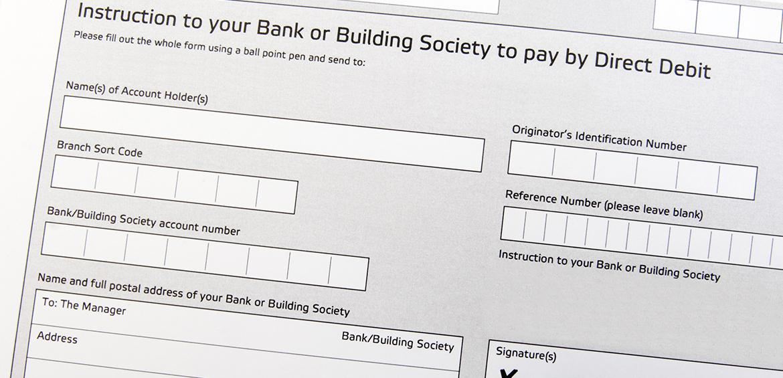 Advance Housing Direct Debit payments - direct debit form