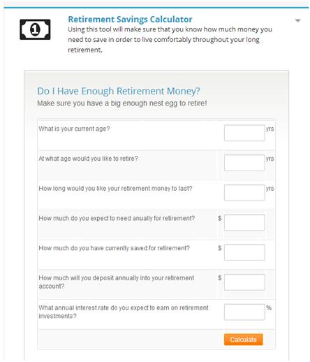 Retirement Calculator - Advantage CCS