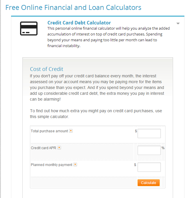 Credit Card Debt Calculator and How to Pay Off Debt - Advantage CCS - simple credit card calculator