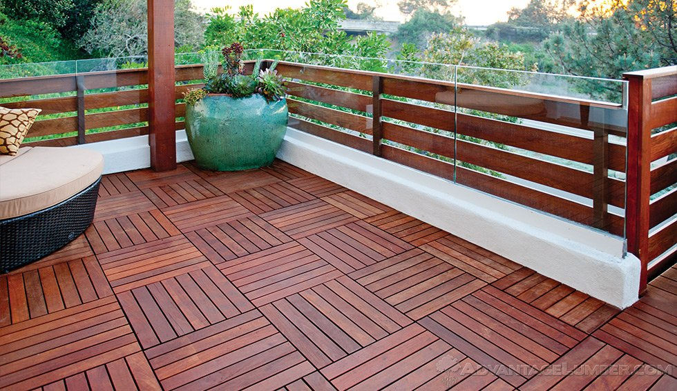 5 Level Ipe Deck With Fence Deck Tiles Del Mar California