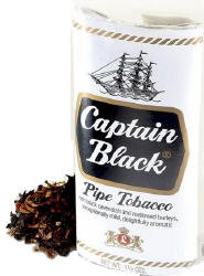 Captain Black White Pipe Tobacco 12oz cans 1.5oz pouches