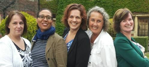 v.l.n.r. Joanne Balk, Guisèle Berkel, Madelon Comvalius, Jolanda Krikken, Miranda Broekhuis