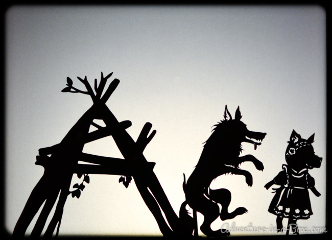 Three Little Pigs Shadow Puppet Printables Adventure in a Box