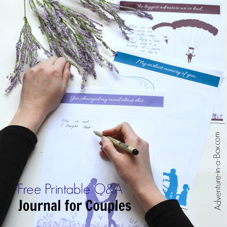 52 Reasons Why I Love You Free Printable QA Journal for Couples