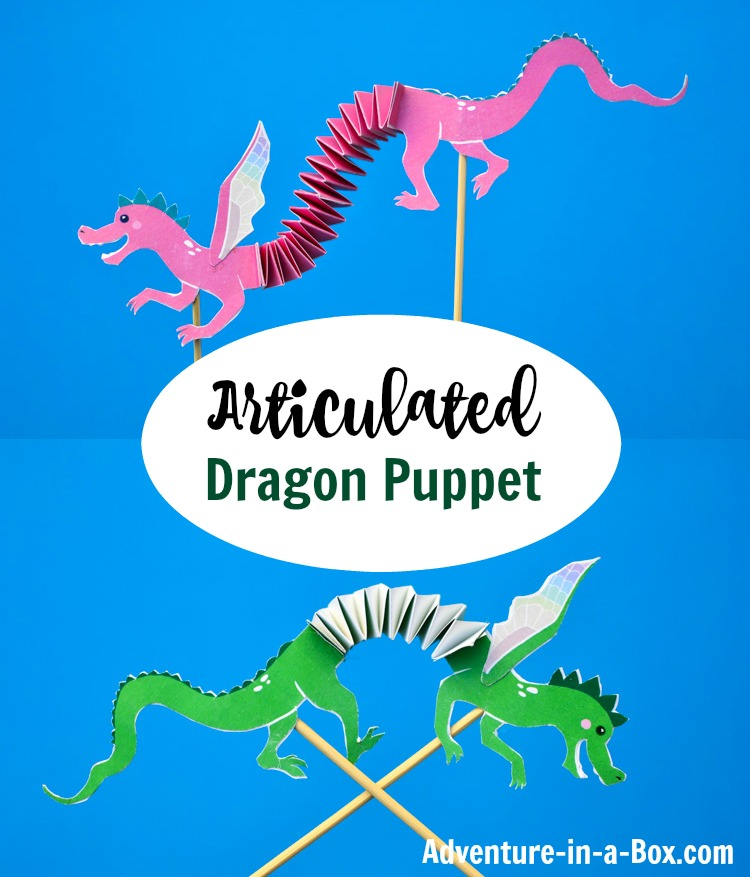 Articulated Dragon Puppet with Free Printable Template Adventure