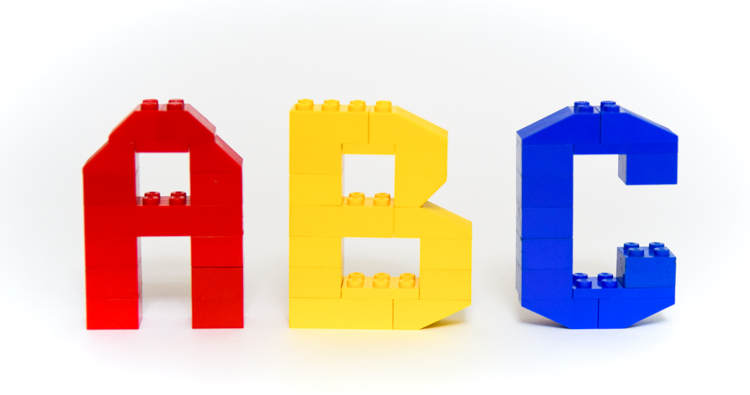LEGO Alphabet Mats with 3D Letter Instructions Adventure in a Box