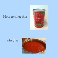 How to turn Tomato Paste into Tomato Sauce!