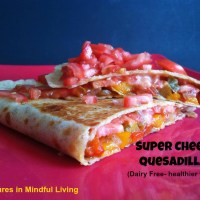 Super Cheesy Quesadilla!! (Dairy Free- healthier version)