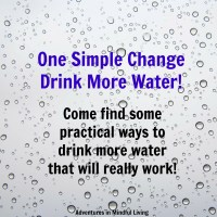 One Simple Change - Drink More Water!