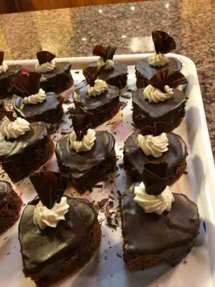 sweetheart chocolate cakes
