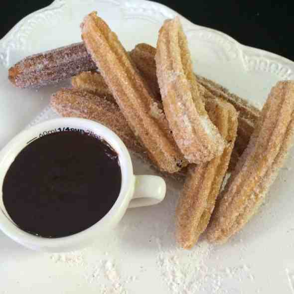 ... in cinnamon sugar. Dip them in Mexican Chocolate Sauce just for fun