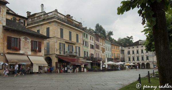 the most beautiful place in the world Piazza Motta, Lago di Orta, Italy @PennySadler 2013