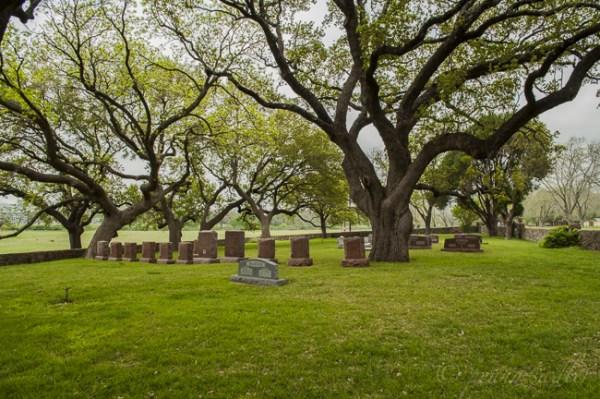 LBJ Ranch and cemetery near Fredericksburg, Texas