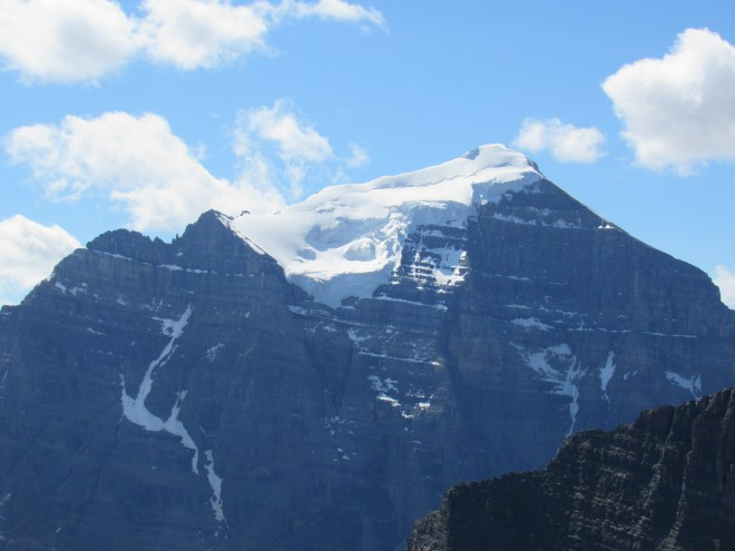 The N face of Mount Temple. Photo looks S using the telephoto lens.