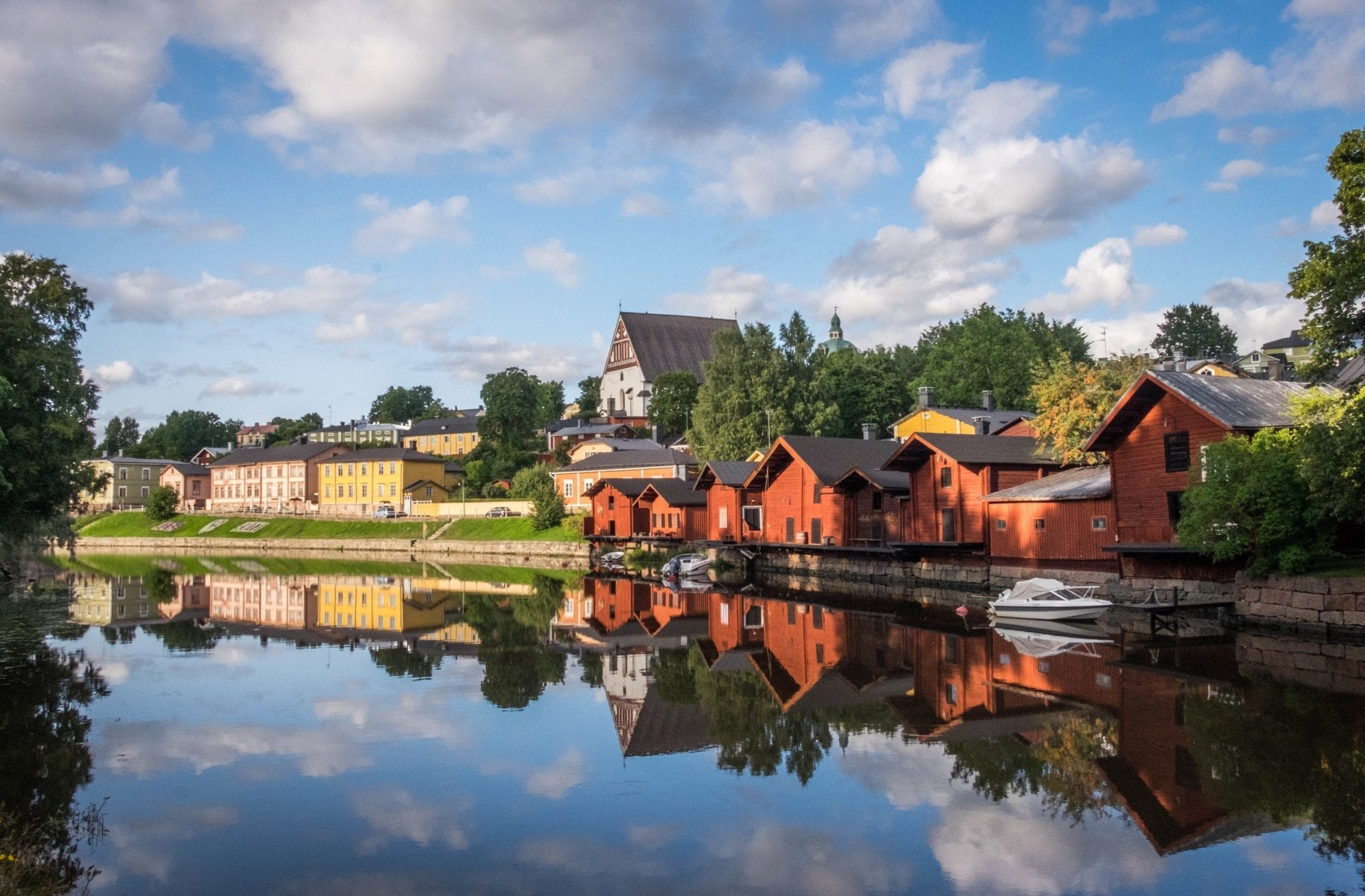 Fall Town Wallpaper Finland In The Summer Quirky Isolated And Pretty
