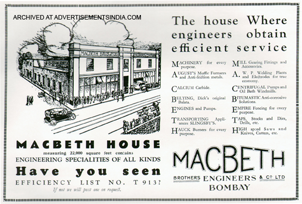 Macbeth Advertisements India - House Advertisements