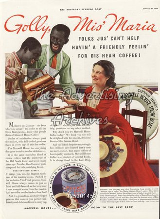 The Advertising Archives Magazine Advert Maxwell House 1930s
