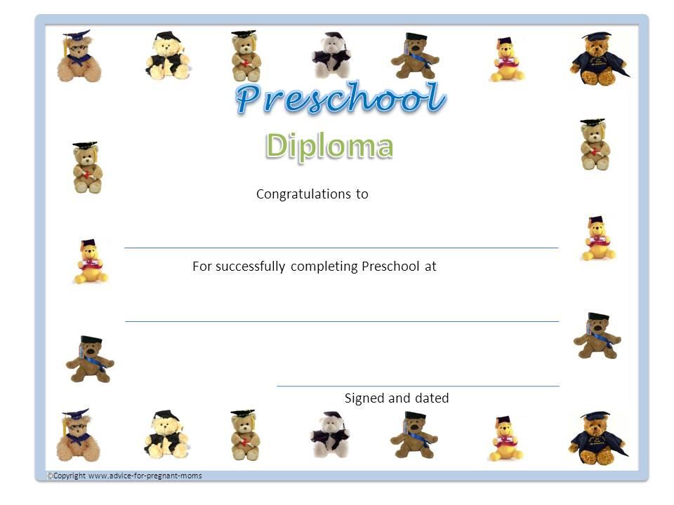 Preschool Diplomas Advice For Pregnant Moms