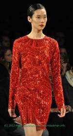 Herve Leger Fall 2012 red is the new black