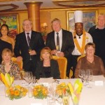The Chef's Table Dinner group on the Norwegian Jade