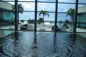 live aqua view from lobby