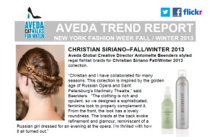 Backstage Beauty Aveda Trend Report: Christian Siriano @Aveda @csiriano #fashion #nyfw