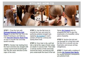 How to Make A Sleek Ponytail ala Stella McCartney and Aveda @aveda @StellaMcCartney #hair #aveda #fashion