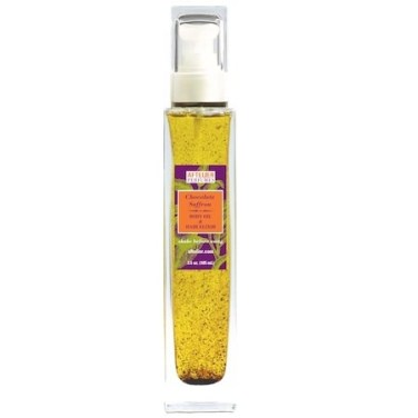 chocolate saffron body oil