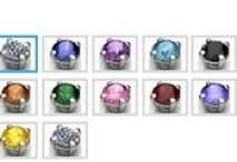 side gems for american pearl ring
