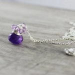 Purple Simple Necklace, Sterling Silver Necklace, Amethyst Gemstone Necklace, February Birthstone, Birthstone Jewelry, Pendant Drop Necklace  Ask a Question $40.00 USD Only 1 available Size  Overview Handmade item Materials: pink amethyst, amethyst, gemstones, sterling silver, wire, chain
