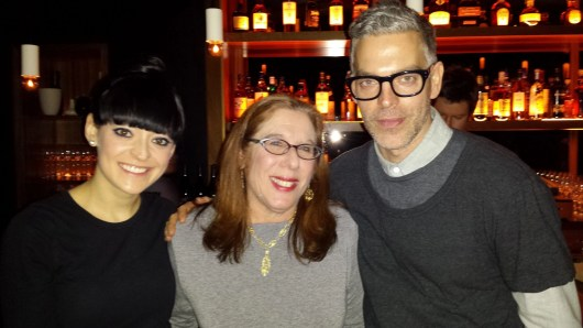 lucky me, posing between  two fabulous talents from NARS: Jenny Smith and James Boehmer