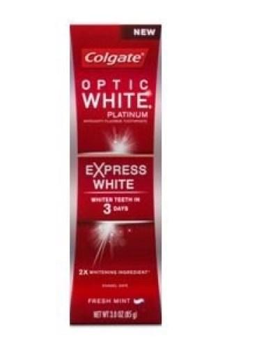 colgate optic white platinum express white