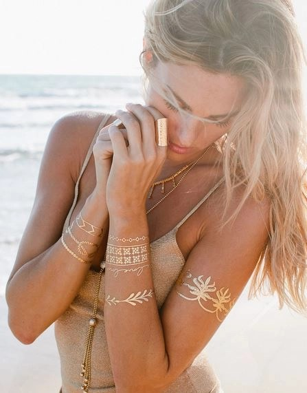 for a beach wedding or a destination wedding, the LOVE STORY collection ($22/00) with delicate designs would be perfect
