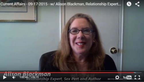 alison blackman on the current affairs show