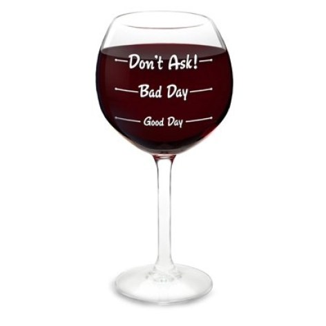 how was your day wine glass big mouth products