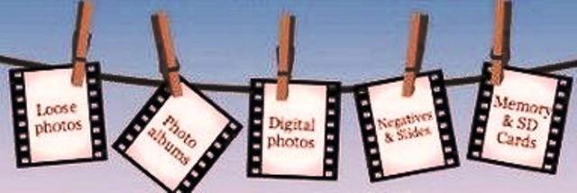 a string of photos types