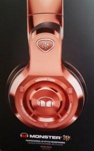 monster 24K rose gold headphones