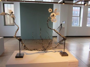 One of th epieces, meant to be worn and danced with, at the Society for Contemprary arts