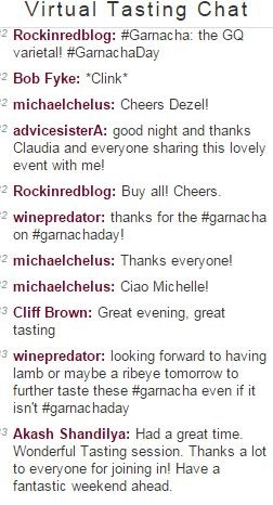 "the end of our virtual wine tasting chat (we are ""AdvicesisteRa"""